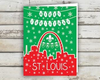 St Louis, Saint Louis, STL, St Louis Arch, Christmas Card, Holiday Card, STL Holiday Card, Saint Louis Holiday Card, St Louis XMAS