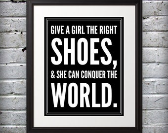 Marilyn Monroe inspired - Shoes conquer the world. - 8x10 B&W Print