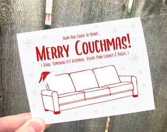 Merry Couchmas!   - Christmas Card, 2020, Couch, Merry Christmas