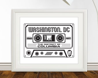 Washington DC Cassette Print