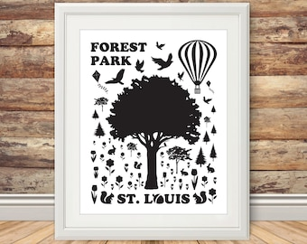 Forest Park - Silhouette Print