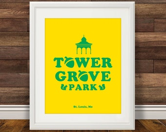 Tower Grove Park - St. Louis Print, STL City, Saint Louis City Poster, Wall Decor
