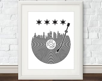 Chicago Record Print