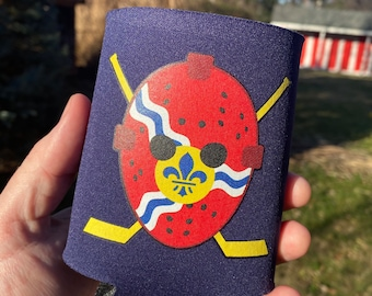 STL Flag Goalie Mask Can Cooler