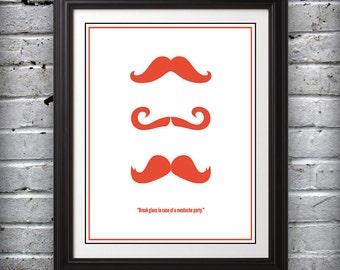 Mustache Party Print