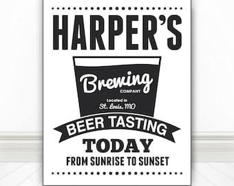 Custom Beer Tasting Sign Print, Beer Print, Beer Art, Bar Art, Bar Print, Bar Sign, Beer Sign, Kitchen Art, Multiple Sizes
