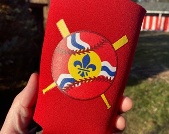 STL Baseball Flag Can Cooler