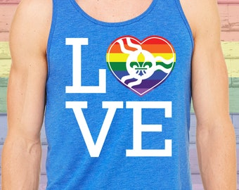 STL Love Pride Heart Tank