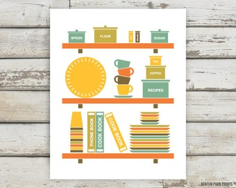 Kitchen, Kitchen Print, Kitchen Art, Cook Book, Cooking, Baking, Kitchen Decor, Cook Book Art, Kitchen Essentials,  Kitchen Wall Art, Home