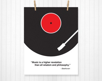 Custom Music Quote, Vinyl Record, Custom Lyric Print, Lyrics, Lyrics Poster, Lyrics Art, Record Poster, Record Print, Music Art, Music Print