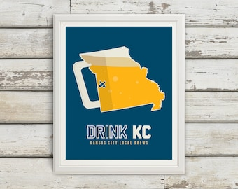 Kansas City, Kansas, Kansas City Kansas, Kansas City Art, Kansas City Beer, Kansas City Beer Print, Kansas City Poster, Kansas City Print