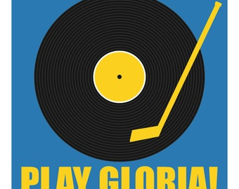 Play Gloria Record Print