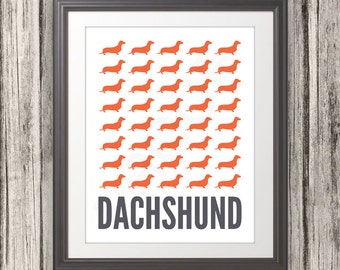 Dachshund, Dachshund Print, Dachshund Art, Dachshund Poster, Dog Print, Dog Art, Dog Poster, Wiener Dog