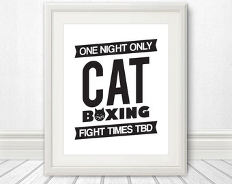 Cat Boxing: One NIght Only!