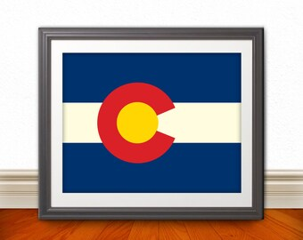 Colorado, Colorado Flag, Colorado Print, Colorado Home, Colorado Wall Art, Colorado Poster, Colorado State Art, Colorado Decor