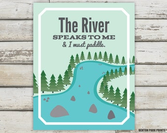 River, River Signs, River Nursery, River Print, River Poster, River Art, Nature Prints, Nature Quote, Nature Poster, River Quote, Nature