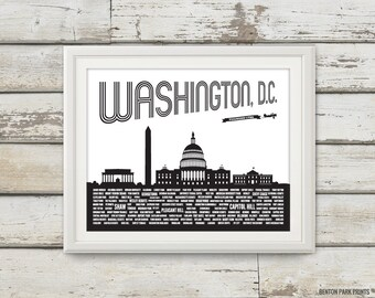 Washington DC, Washington DC Skyline, District of Columbia, Washington DC Art, Capitol Hill, Washington Monument, Abraham Lincoln
