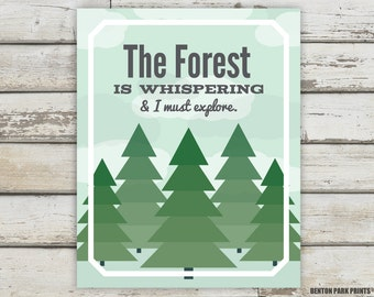 Forest, Forest Nursery, Forest Print, Forest Poster, Forest Quote, Tree, Tree Quote, Tree Print, Tree Poster, Forest Art, Tree Art, Kids Art