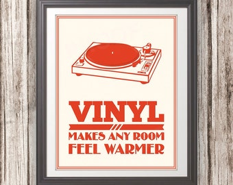 Record Player Print: Vinyl Makes Any Room Feel Warmer