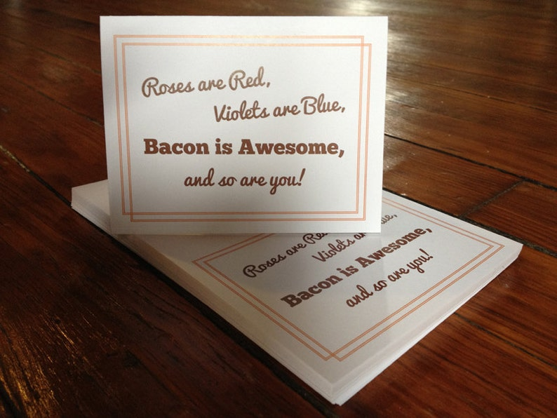 Bacon is Awesome  Orange  Individual Thank You Card image 0