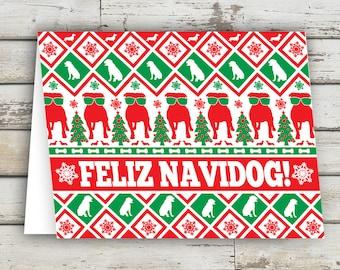 Feliz Navidog, Christmas Card, Dog Greeting Card, Dog, Dogs, Dog Cards, Christmas Dog, XMAS, Xmas Card, Puppy, Holiday Card, Bark