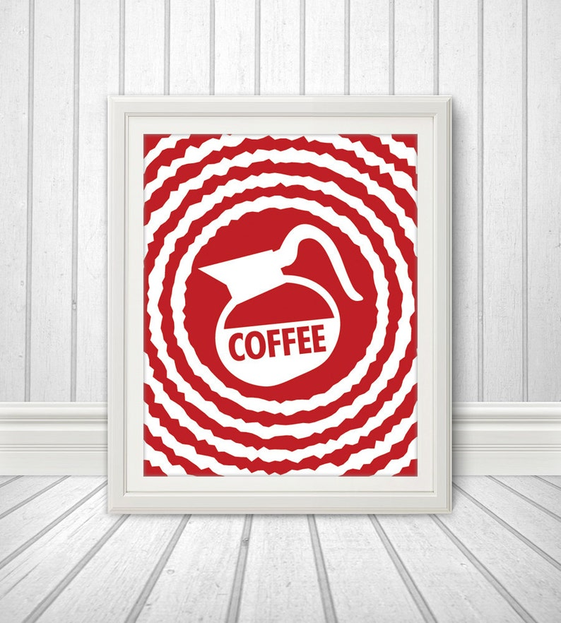 Coffee Coffee Print Coffee Art Kitchen Quote Kitchen Art image 0