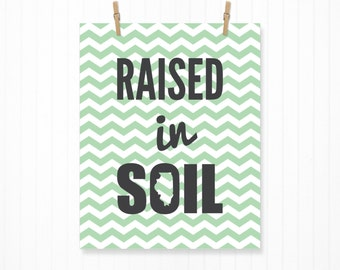Raised in Southern Illinois State Print