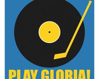 Play Gloria Record Print - A STL City Print by Benton Park Prints