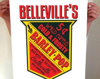 Custom Beer Sign Print, Barley Pop, Beer, Custom Beer, Beer Quote, Custom Bar SIgn, Bar Sign, Bar, Home Brew, Brewery, Brewery Sign