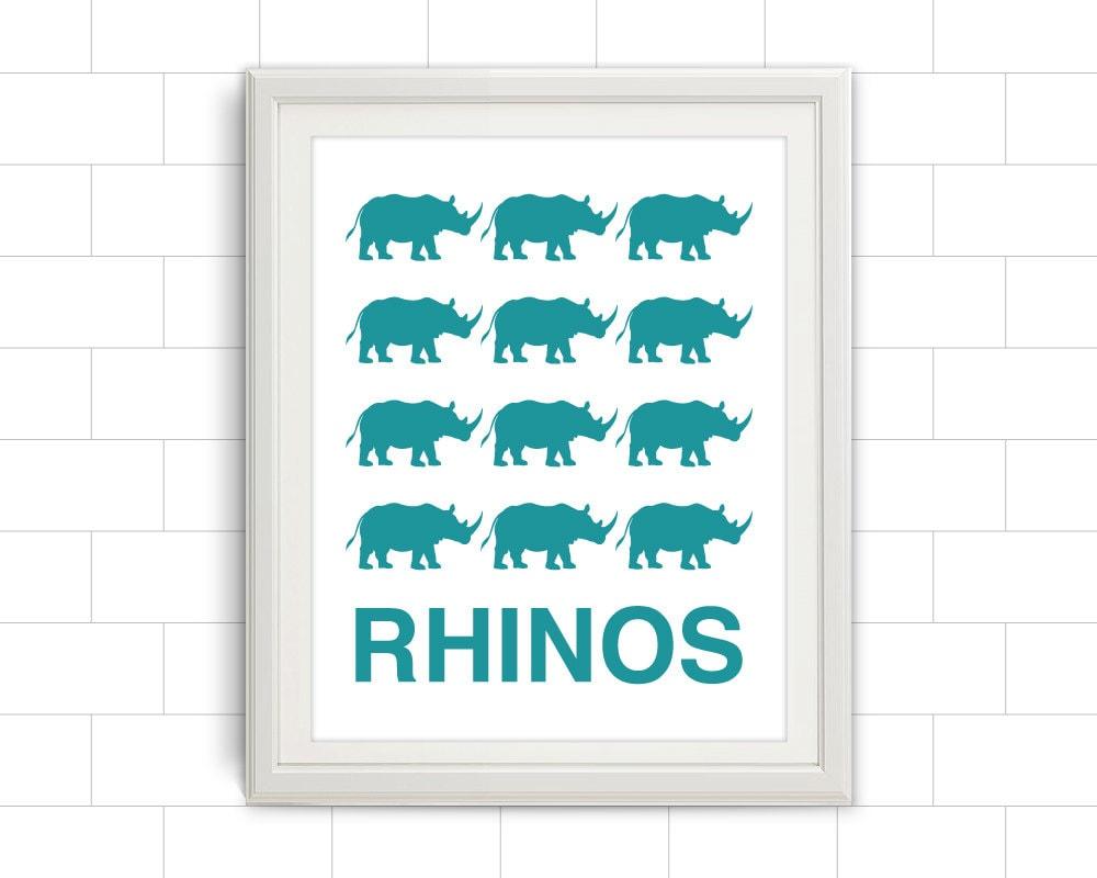 Rhinos, Rhino Print, Rhino Art, Kids Wall Art, Jungle Print ...