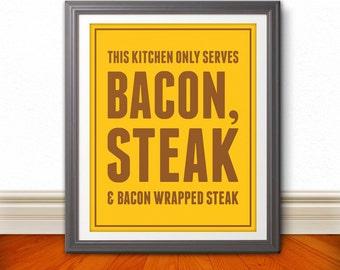 Bacon & Steak 8x10 Print