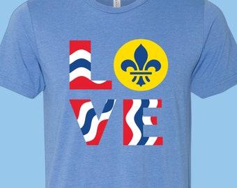 Love STL - STL City Shirt by Benton Park Prints, St Louis, Saint Louis