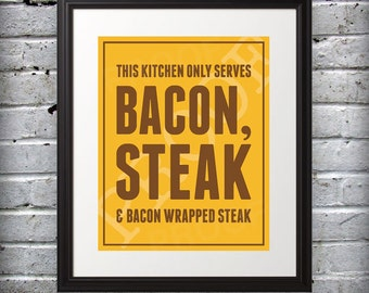 Bacon & Steak 5x7 Print