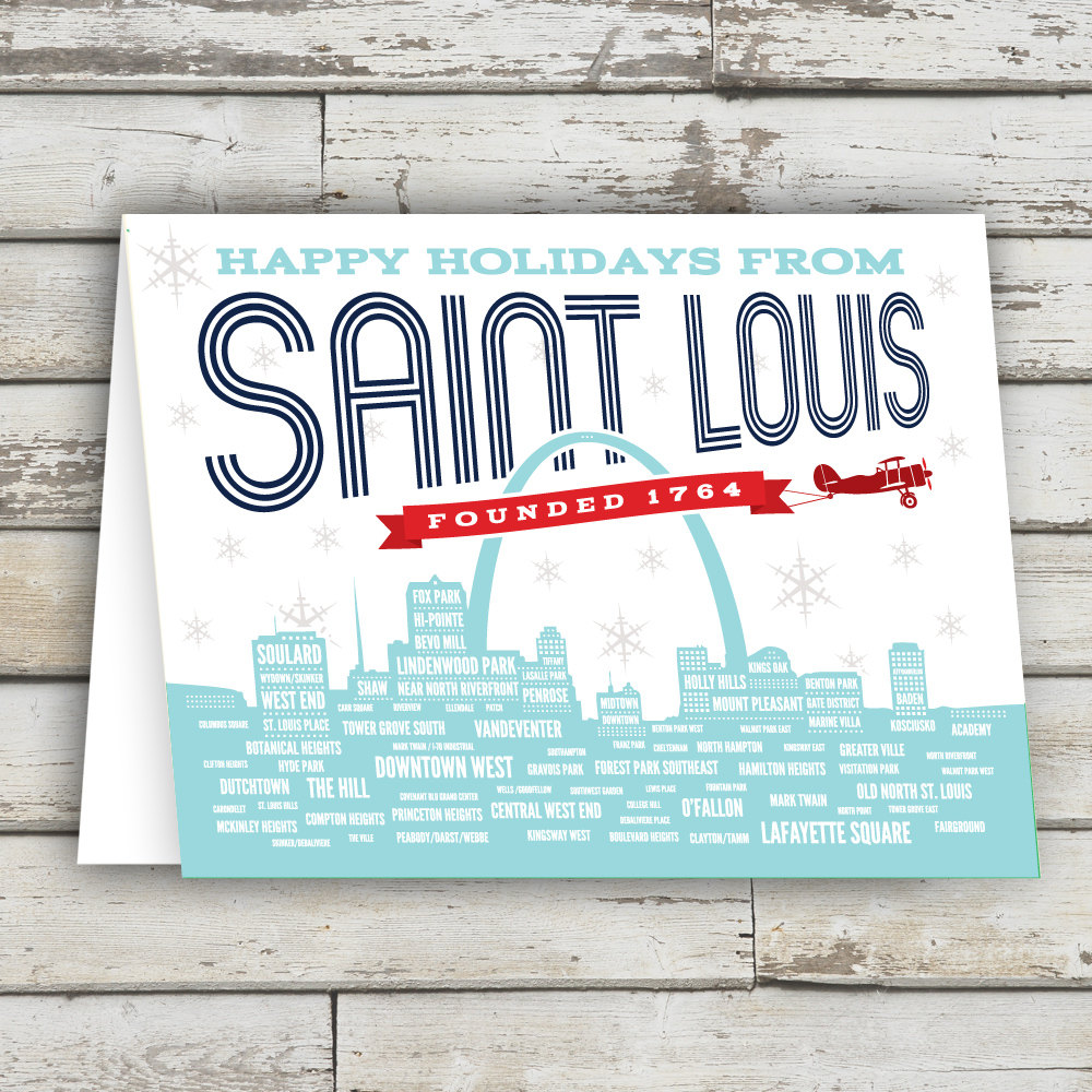 Happy Holidays from STL, Happy Holidays St Louis, St Louis Greeting ...