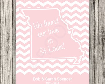 We Found Our Love - Custom State Print - 8x10