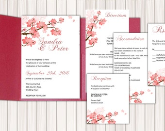 diy wedding pocket invitation template instant download etsy