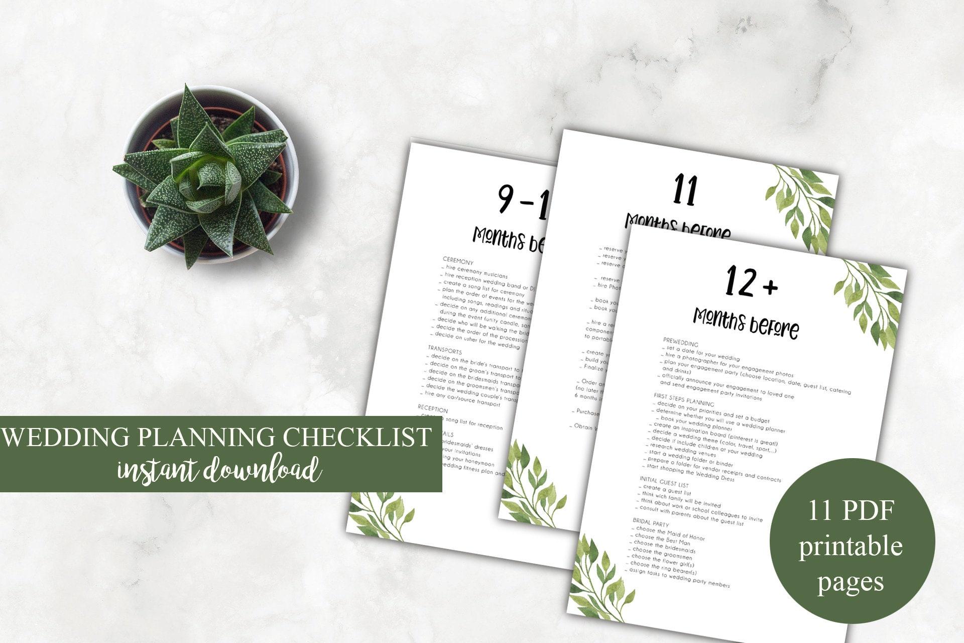 Wedding planner checklist, ultimate 12 month wedding