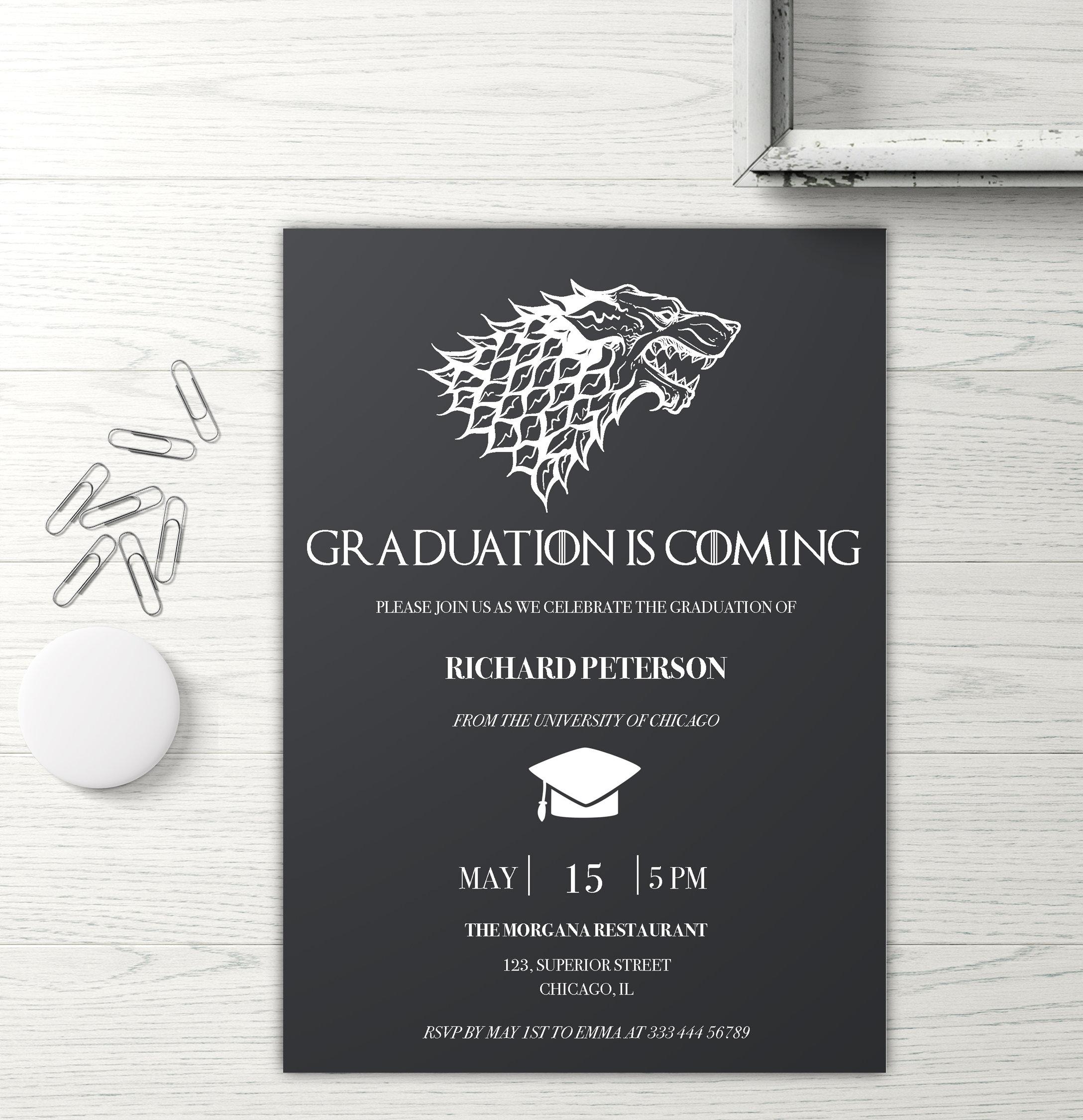 Nerdy Graduation Invitation Printable Nerd Party Invite
