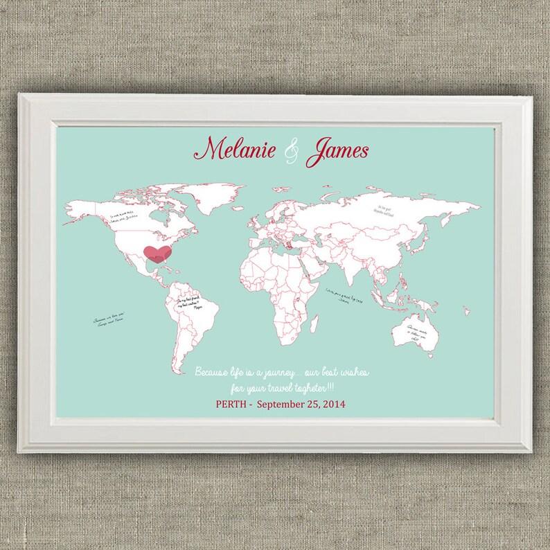 Tableau de mariage a tema viaggi mappa del mondo con città a  d41e16cb226d