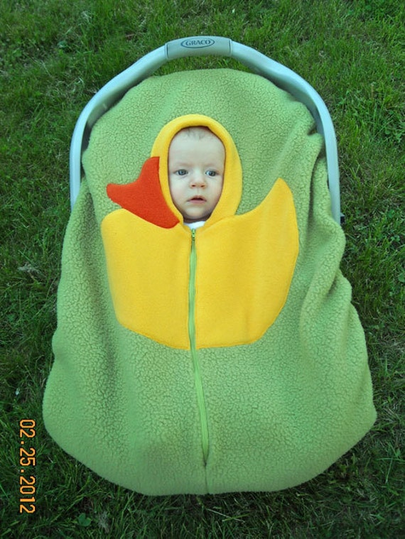 Green Duck Baby Car Seat Cover Infant Car Seat Cover On