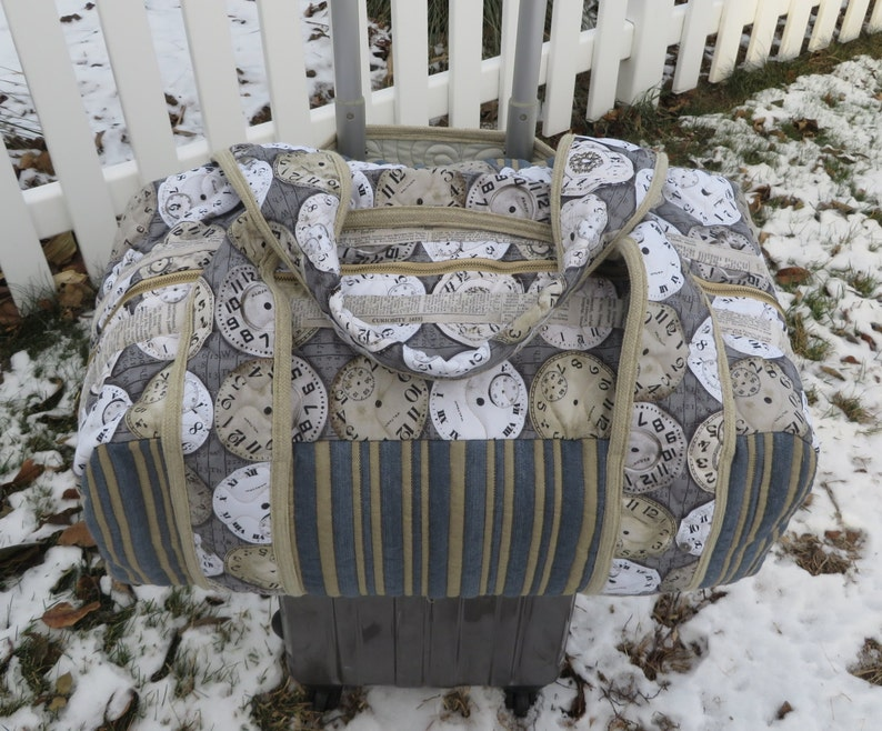 22 X 10 X 10 Quilted Messenger lined Overnight Bag