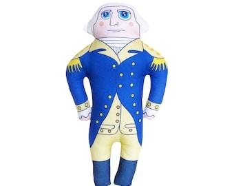 LARGE George Washington - Handmade Soft Art Cloth Doll - LIMITED EDITION