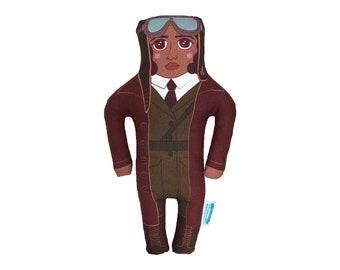 Bessie Coleman Doll-Pilot-Daredevil-BIPOC-Black History-Famous Women