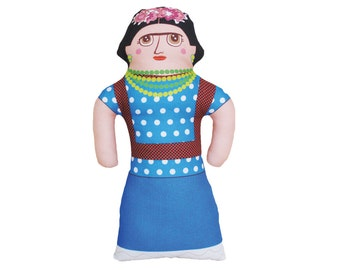 Frida Doll - Famous Mexican Artist - Handmade Soft Art Cloth Doll - LIMITED EDITION