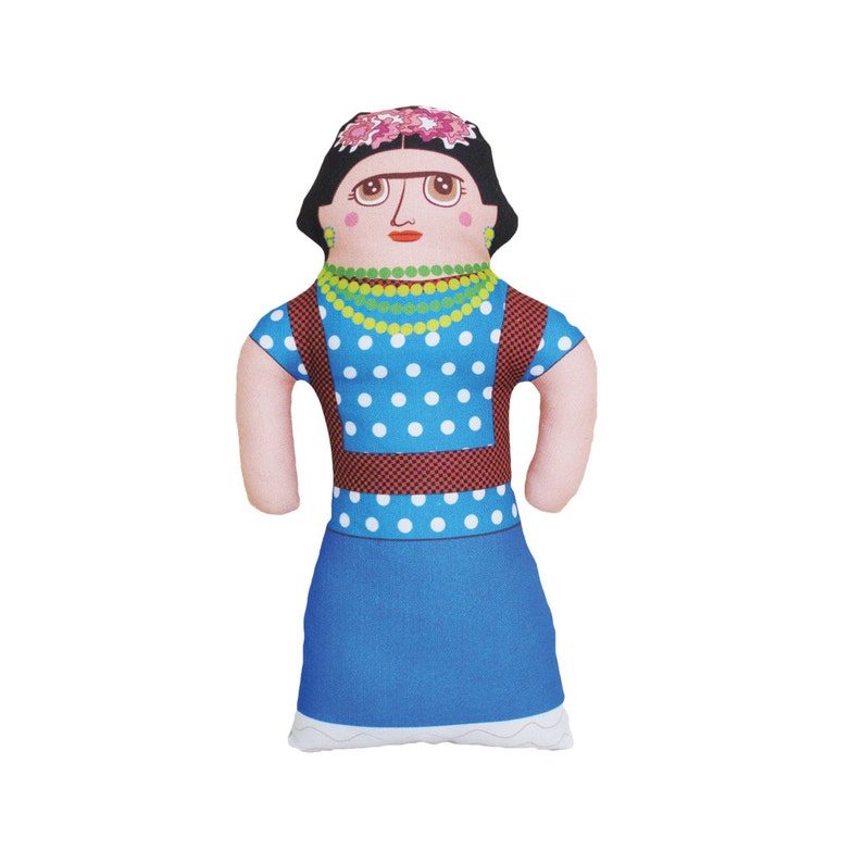 Frida Doll  Famous Mexican Artist  Handmade Soft Art Cloth image 0