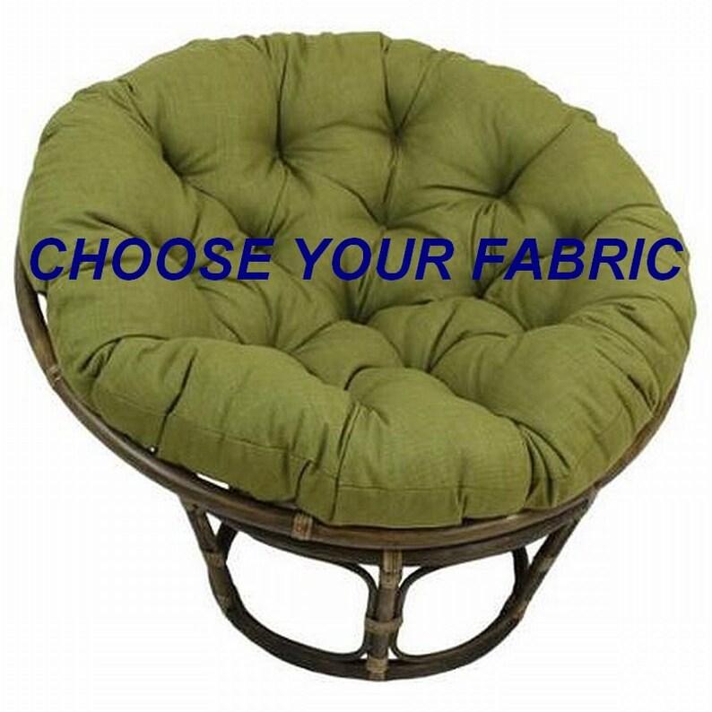 image 0 ...  sc 1 st  Etsy & Papasan Cushion Custom Made Cushion Squareasan Cushion | Etsy