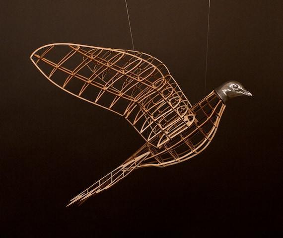 Passenger Pigeon Sculpture - ONE- model airplane style bird