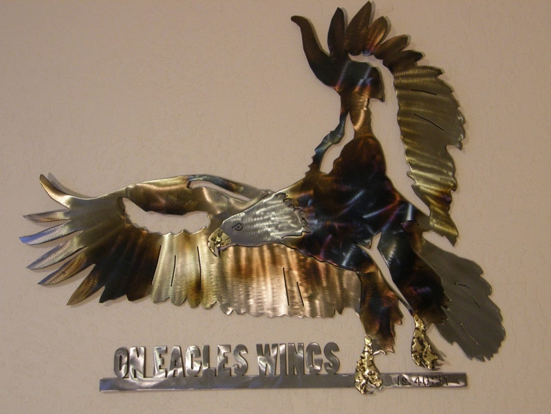 Metal eagle wall sculpture image 0