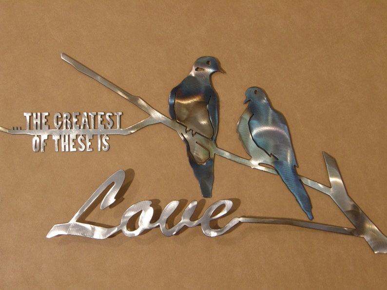 Dove metal wall art sculpture image 0