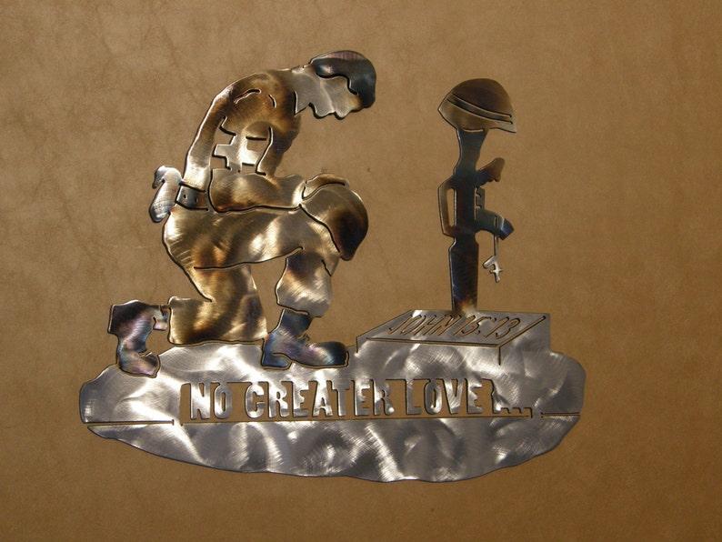 Military metal sculpture image 0